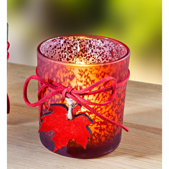 Teelichtglas bordeaux