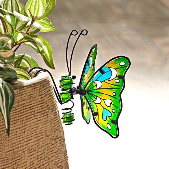 """Einhänger """"Schmetterling"""" grün-gelb"""