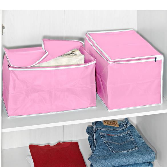 Ordnungsboxen rosa, 2er-Set