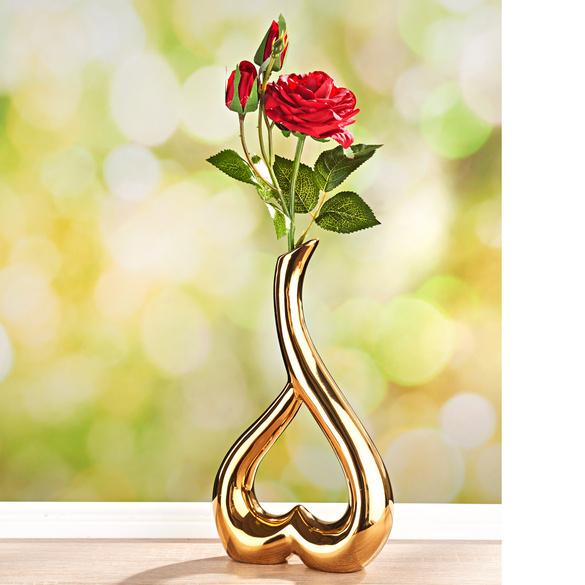 Vase goldfarben
