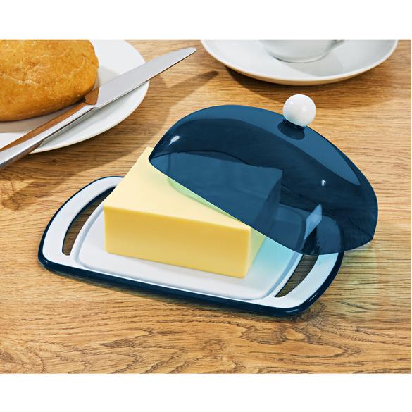 Butterdose blau
