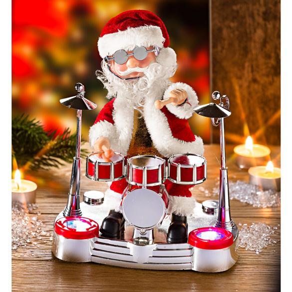 Weihnachtsmann am Schlagzeug