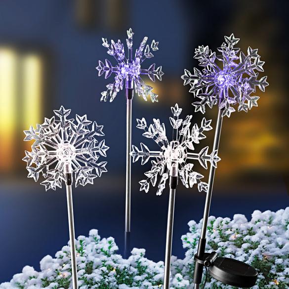 Solar-Eiskristallstecker, 4er-Set