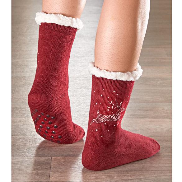 Stopper-Socken bordeaux