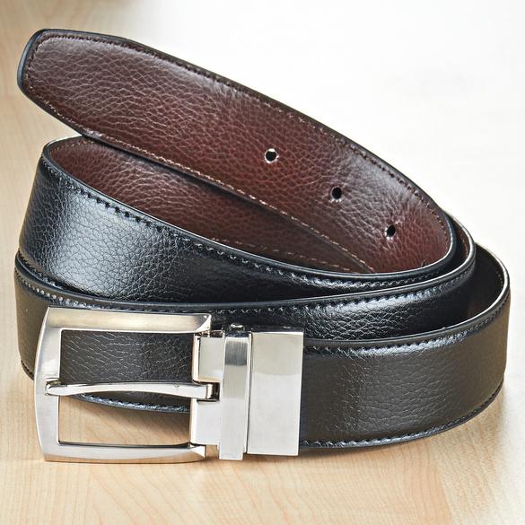 Wendegürtel 2-in-1 schwarz/braun