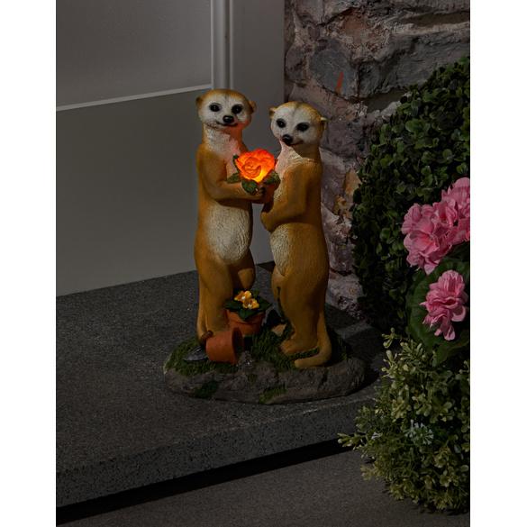 """Solarleuchte """"Erdmännchen-Paar"""""""
