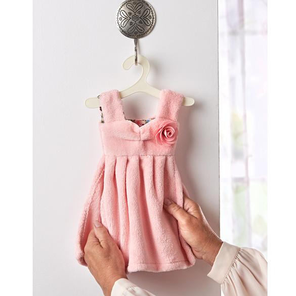 """Gästehandtuch """"Kleidchen"""" rosa"""