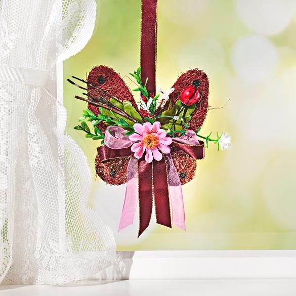 Sisal-Schmetterling bordeaux