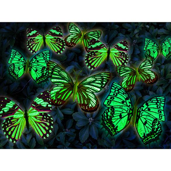 Schmetterlings-Stecker selbstleuchtend, 18er-Set