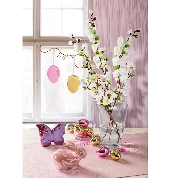 Dekoeier lila-pink, 6er-Set