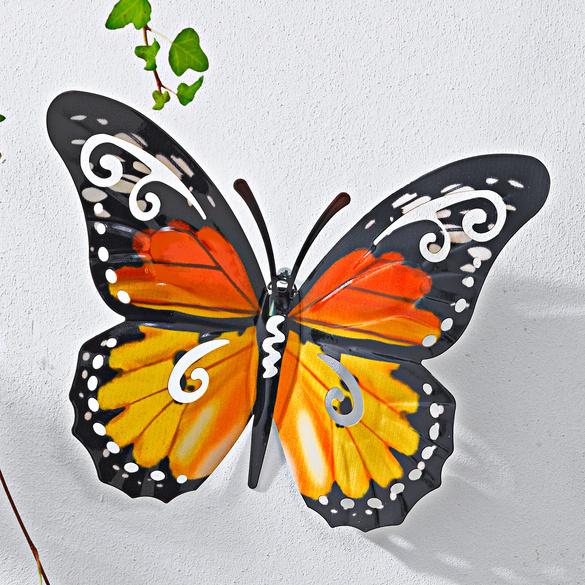 Metall-Schmetterling gelb
