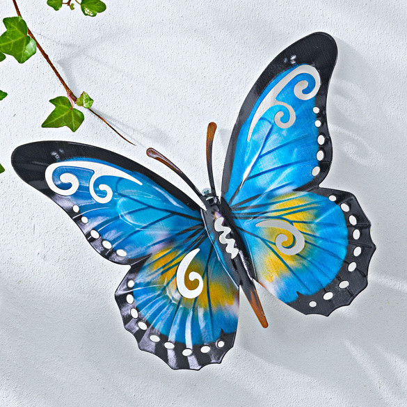 Metall-Schmetterling blau