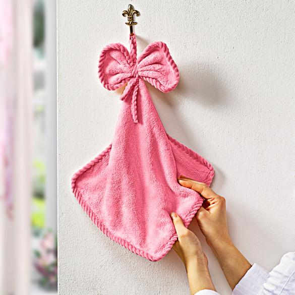 Handtuch mit Schleife rosa