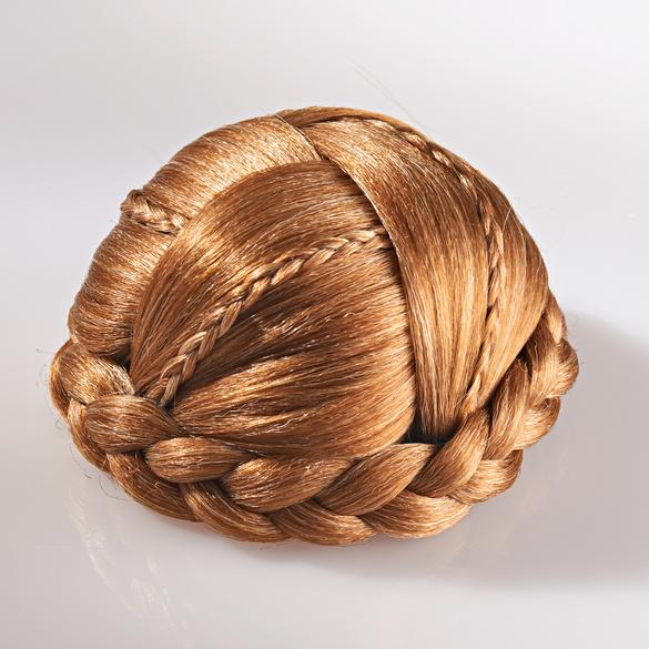 Haarzopf zum Anstecken, mittelbraun