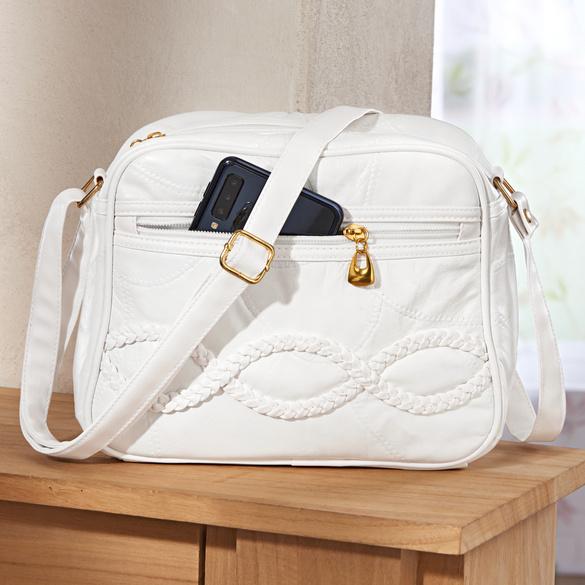 Patchwork-Tasche weiß