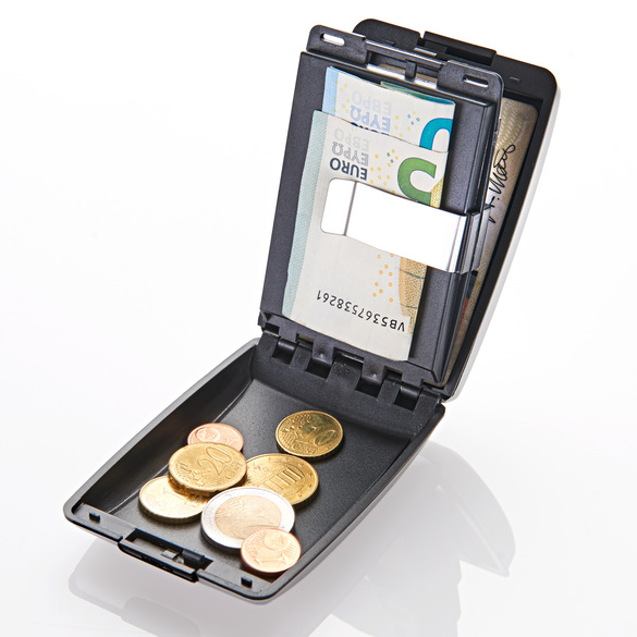 Geld-/Kartenbörse silber