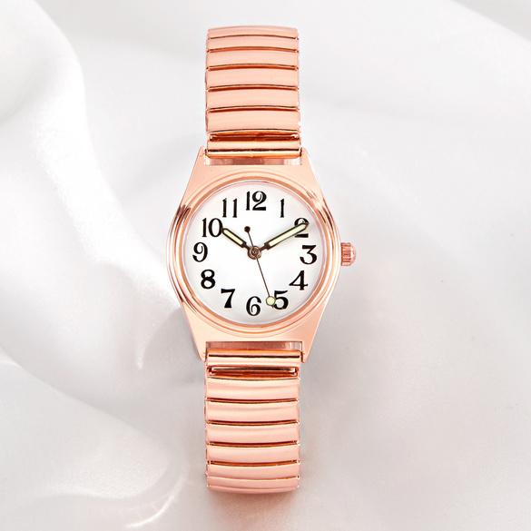 Armbanduhr roségold klein Ø 2,8 cm