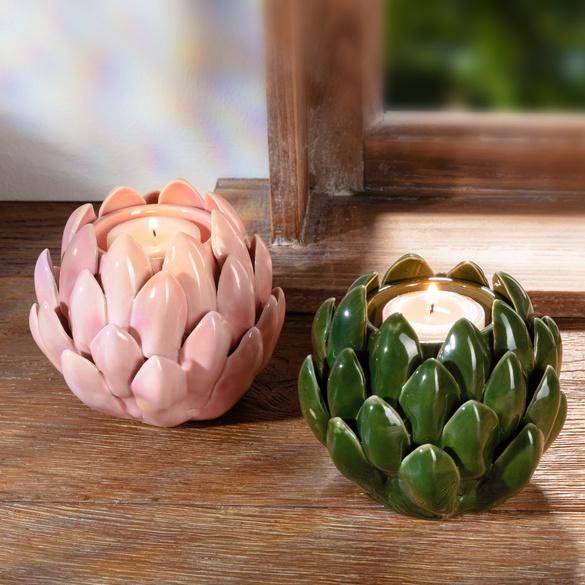 "Kerzenhalter ""Lotusblüte"" grün"