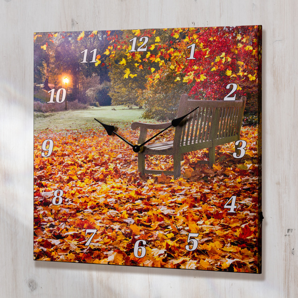 "LED-Wanduhr  ""Herbst"""