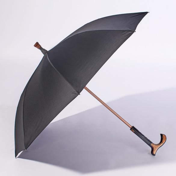 Gehstock/Schirm 2-in-1 schwarz