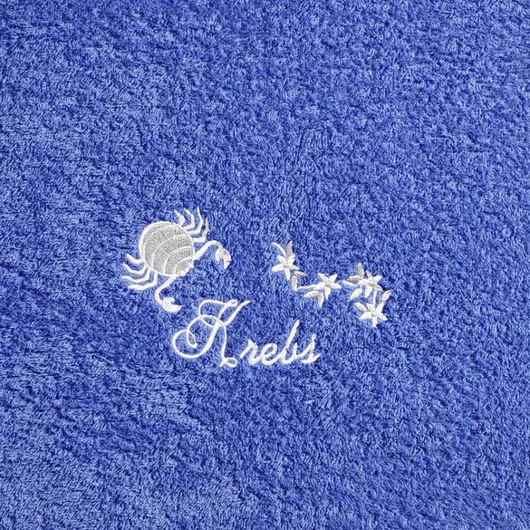 """Duschtuch """"Krebs"""" blau"""