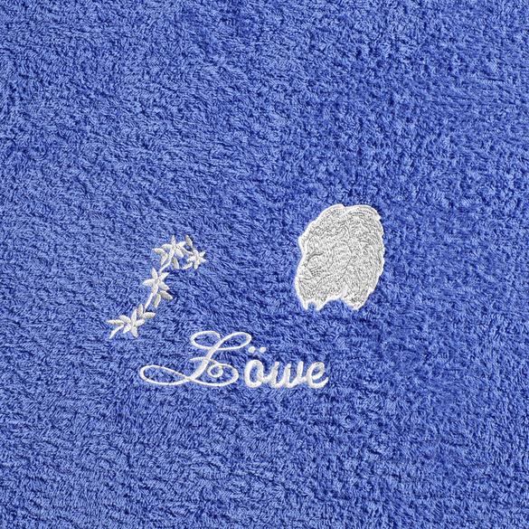 """Duschtuch """"Löwe"""" blau"""