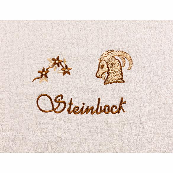"Duschtuch ""Steinbock"" beige"