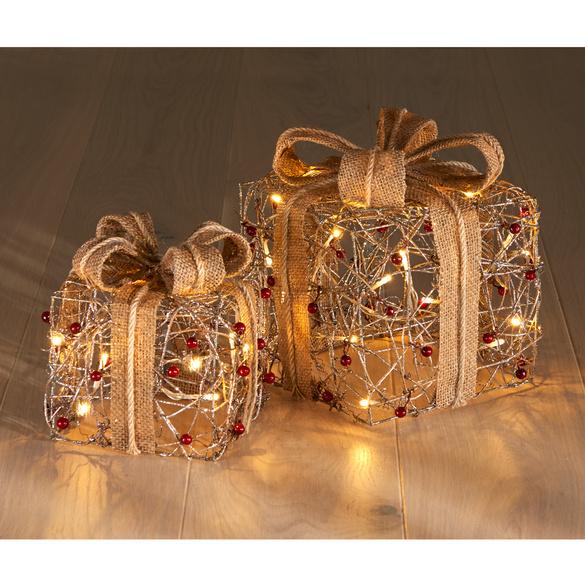 LED-Geschenkbox rotgold, groß