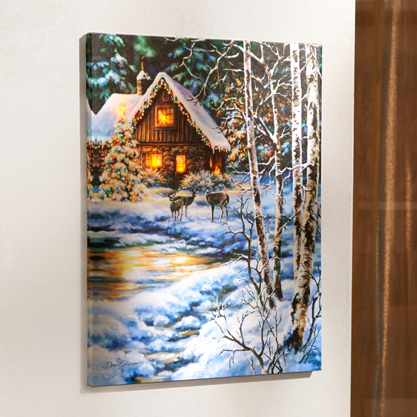 "LED-Bild ""Winterwald"""