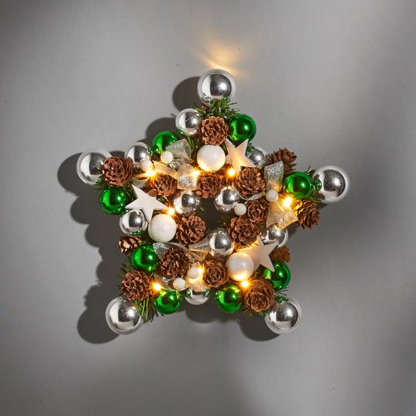 """LED-Weihnachtskranz """"Stern"""""""