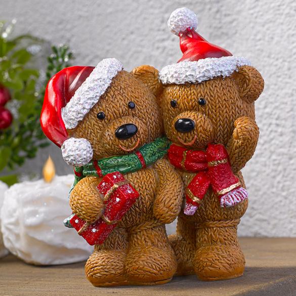 Weihnachtsbär-Paar