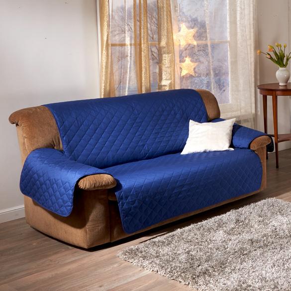 Sofaüberwurf 2-Sitzer blau