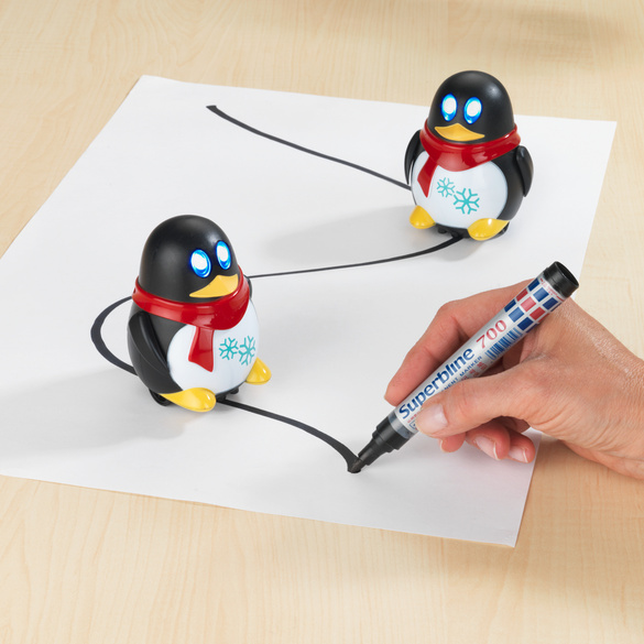 LED-Pinguin + Filzstift