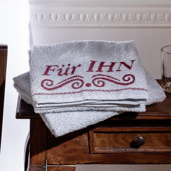 """Handtuch """"Für IHN"""" bordeaux"""