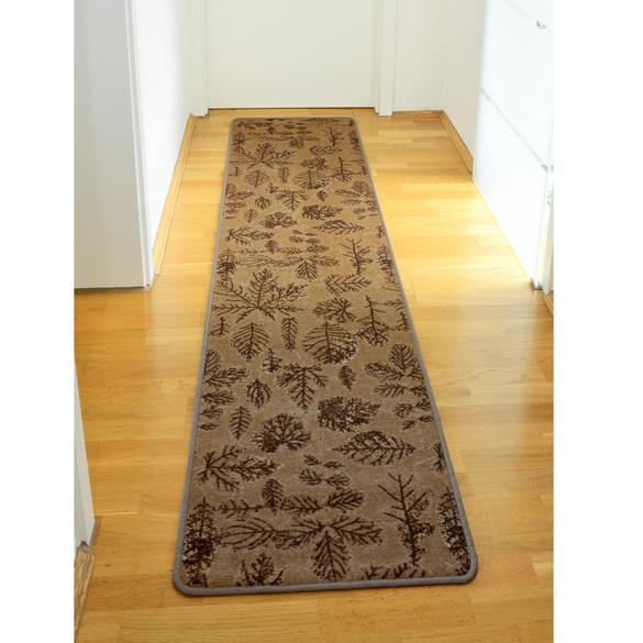 """Teppich """"Blätter"""" beige"""