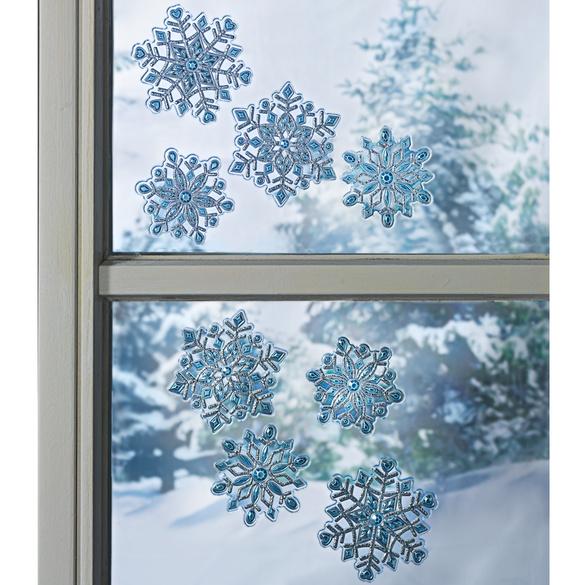 """Fensterbild """"Schneeflocken"""", 4-tlg."""