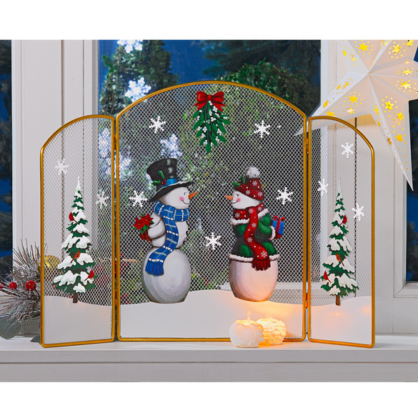 """Weihnachtsdeko """"Kaminfenster"""""""