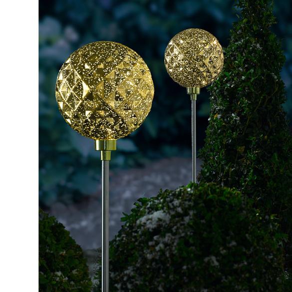 """LED-Gartenstecker """"Goldkugel"""""""