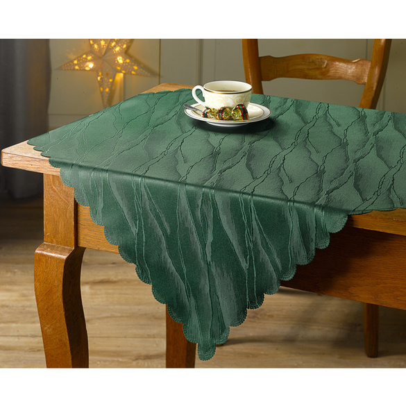 "Tischdecke ""Rosen-Jacquard"" grün, 80 x 80 cm"