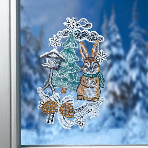"""Textilhänger """"Hase im Schnee"""""""