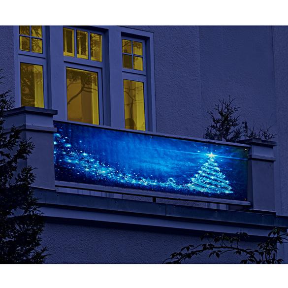 """Balkon-Sichtschutz """"Weihnachtsbaum"""""""