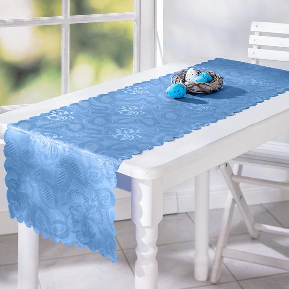 "Jacquard-Tischläufer ""Jasmin"" hellblau, 40 x 140 cm"