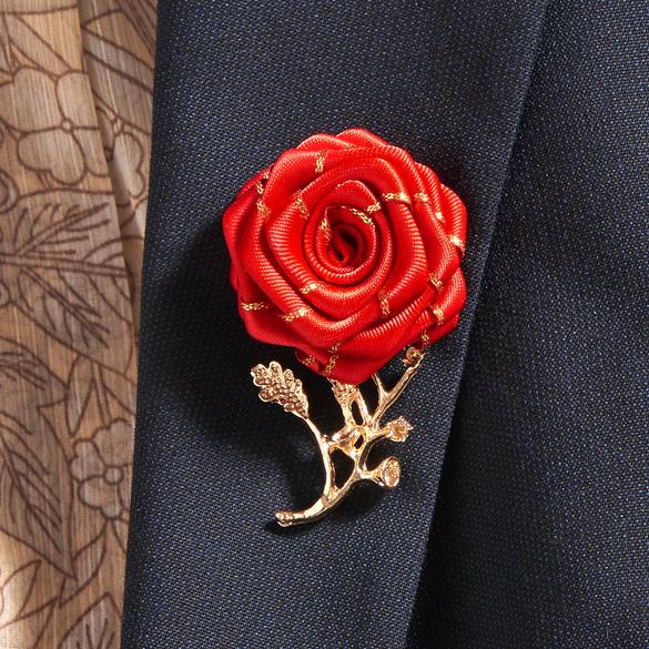 "Magnet-Brosche ""Rose"""