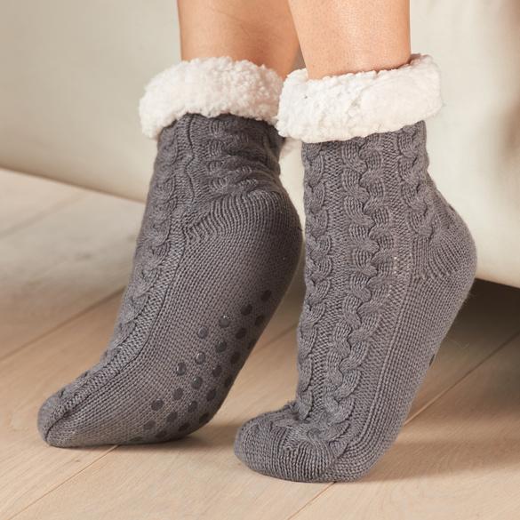 Stopper-Socken grau/ecru