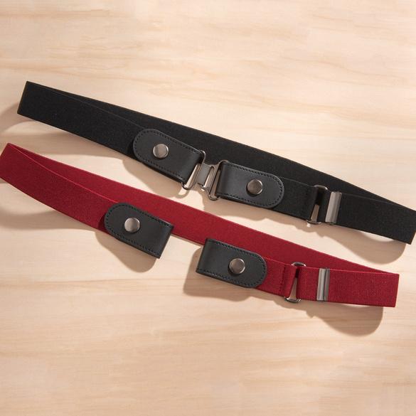 Stretchgürtel 2-in-1 scharz + rot, 2er-Set