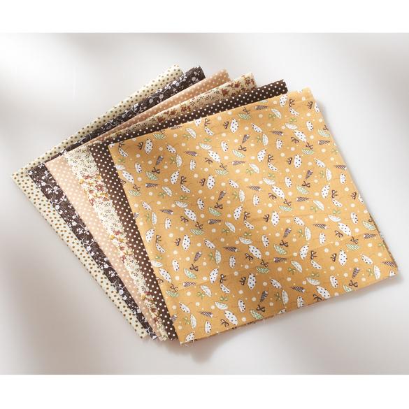 Stoff-Set für Masken beige/braun, 7-tlg.