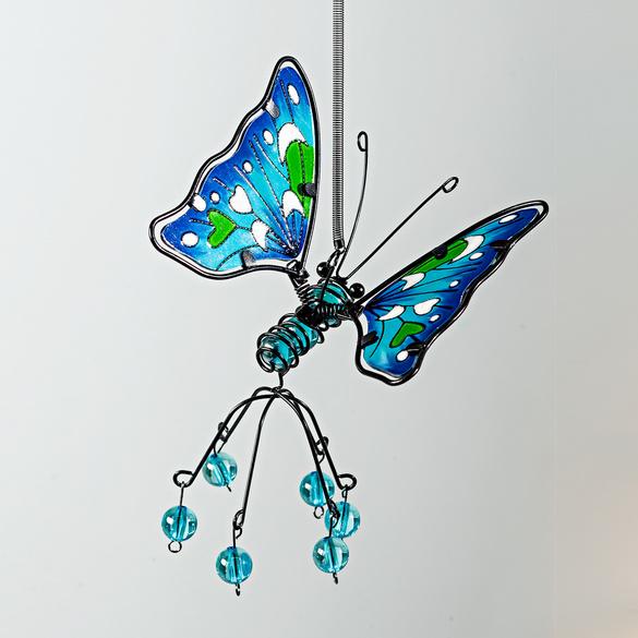"""Mobile """"Schmetterling"""" blau"""