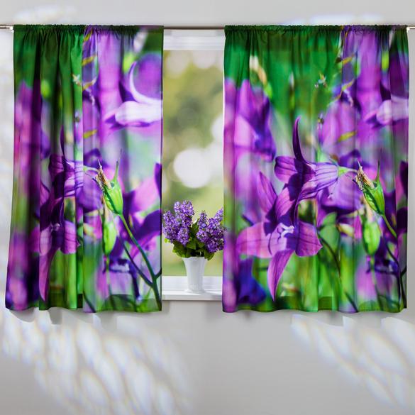 "Vorhang ""Lilien"", 140 x 140 cm"