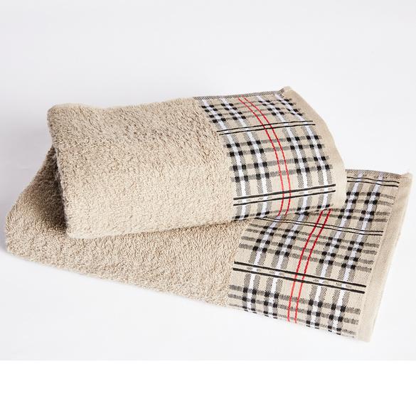 Handtuch Borte kariert, 60 x 100 cm