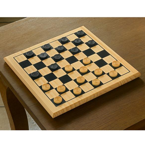 Holz-Damespiel